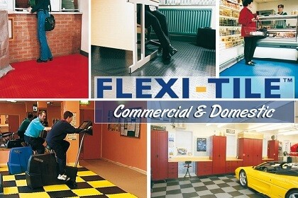 Flexi-Tile™ Boden für Gewerbe und Handel