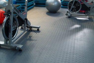 Flexi-Tile PVC Fliesen als Fitnessboden