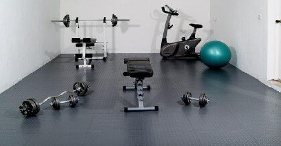 Flexi-Tile PVC Bodenfliesen als Fitnessboden