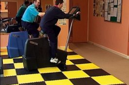 Flexi-Tile als Fitness PVC Bodenbelag