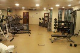 Fitnessstudio ausgelegt mit PVC Bodenbelag von Flexi-Tile