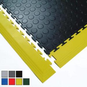 Passende Ecken und Kanten (Rampen) - Seitenteile für die Flexi-Tile PVC Fliesen