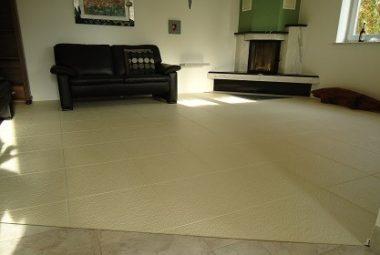 Flexi-Tile als Wohnzimmerboden verlegt
