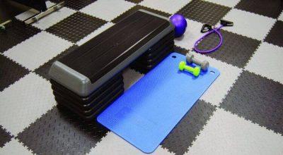 Flexi-Tile Diamond PVC Bodenfliesen - Anwendungsbeispiel Fitnessbereich
