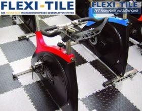 Flexi-Tile Diamond PVC Bodenfliesen - Anwendungsbeispiel Fitnessboden