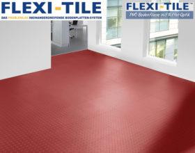 Flexi-Tile Diamond PVC Bodenfliesen - Anwendungsbeispiel in Rot