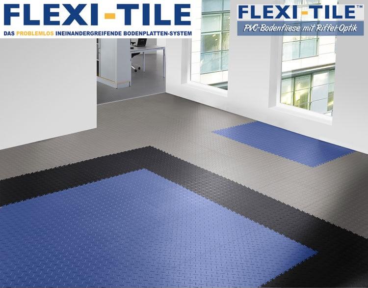 flexi tile diamond pvc bodenfliesen anwendungsbeispiel. Black Bedroom Furniture Sets. Home Design Ideas