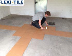 Flexi-Tile Eclipse Mini Anwendungsbeispiel Garagenbereich Verlegung