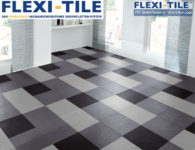Flexi-Tile Eclipse Mini Anwendungsbeispiel Hellgrau, Dunkelgrau, Schwarz