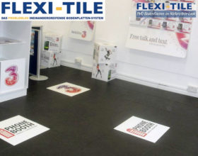 Flexi-Tile Eclipse Mini Anwendungsbeispiel Ladenlokal