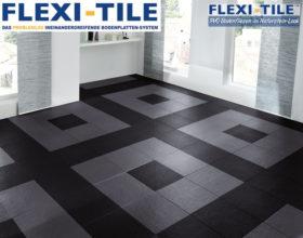 Flexi-Tile Eclipse Mini Anwendungsbeispiel Schwarz und Dunkelgrau