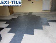 Flexi-Tile Eclipse Mini Anwendungsbeispiel Verlegung in Garage