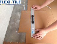Flexi-Tile Eclipse Mini Anwendungsbeispiel Zuschnitt Wandbereich