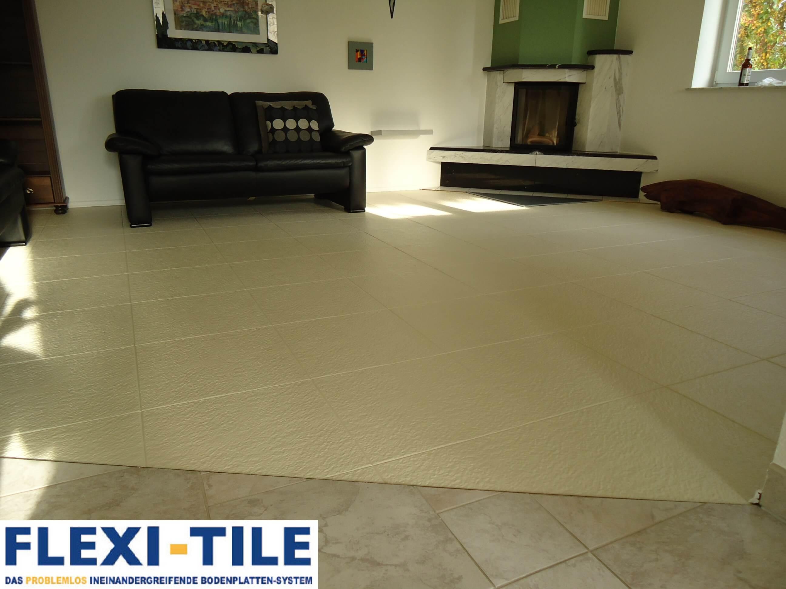 Flexi-Tile Eclipse Mini im Wohnzimmer » PVC Fußbodenbelag - PVC