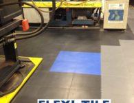 Flexi-Tile PVC Boden Anwendungsbeispiel als Industrieboden
