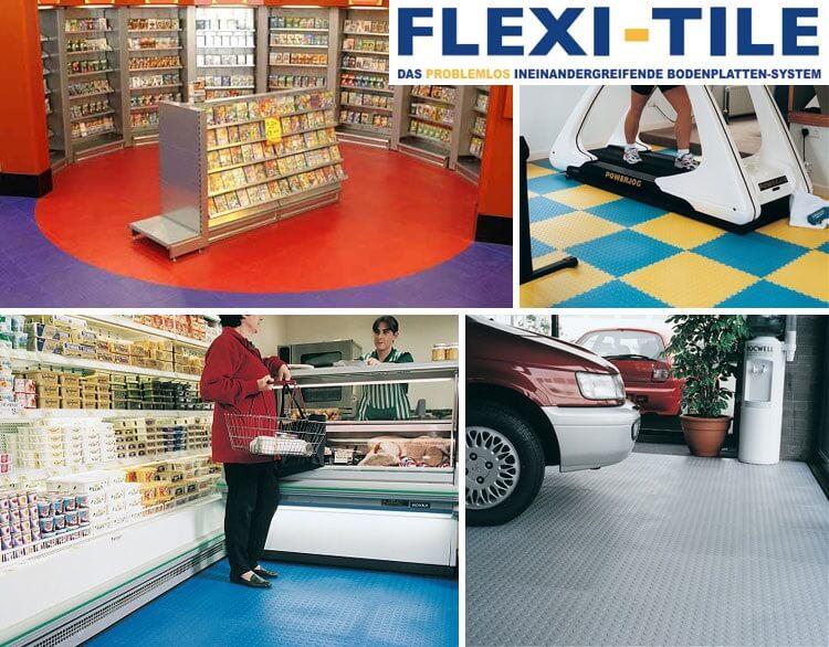 Flexi-Tile PVC Boden - Anwendungsbeispiele