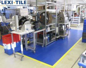 Flexi-Tile PVC Boden Beispielanwendung Arbeitsplatzboden
