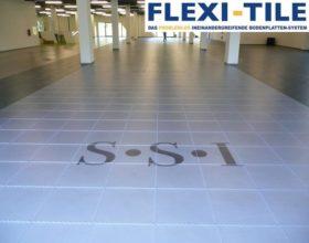 Flexi-Tile PVC Boden Beispielanwendung Hallenbereich