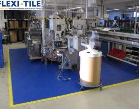 Flexi-Tile PVC Boden Beispielanwendung als Arbeitsplatzboden