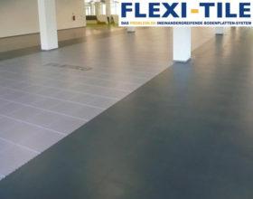 Flexi-Tile PVC Boden Beispielanwendung als Gewerbeboden