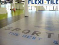 Flexi-Tile PVC Boden Beispielanwendung als Gewerbeboden in Halle