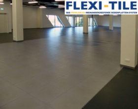 Flexi-Tile PVC Boden Beispielanwendung als Hallenboden