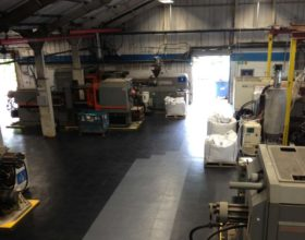 Flexi-Tile PVC Boden Beispielanwendung als Industrieboden Belag