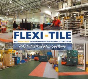 Anwendungsbeispiel Flexi-Tile als Industrieboden