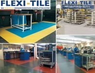 Flexi-Tile PVC Boden Industriebodenbelag - Beispielanwendungen