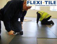 Flexi-Tile PVC Boden Industriebodenbelag - Verlegung