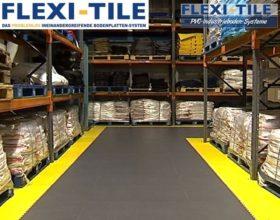 Flexi-Tile PVC Boden Industriebodenbelag in Lagerhalle