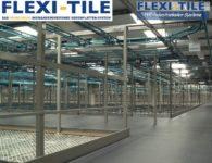 Flexi-Tile PVC Boden Industriebodenbelag in Lagerhalle - Ausfu¦êhrung Genoppt