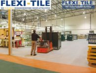 Flexi-Tile PVC Boden Industriebodenbelag mit Ameise