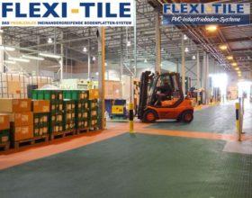 Flexi-Tile PVC Boden Industriebodenbelag mit Gabelstapler