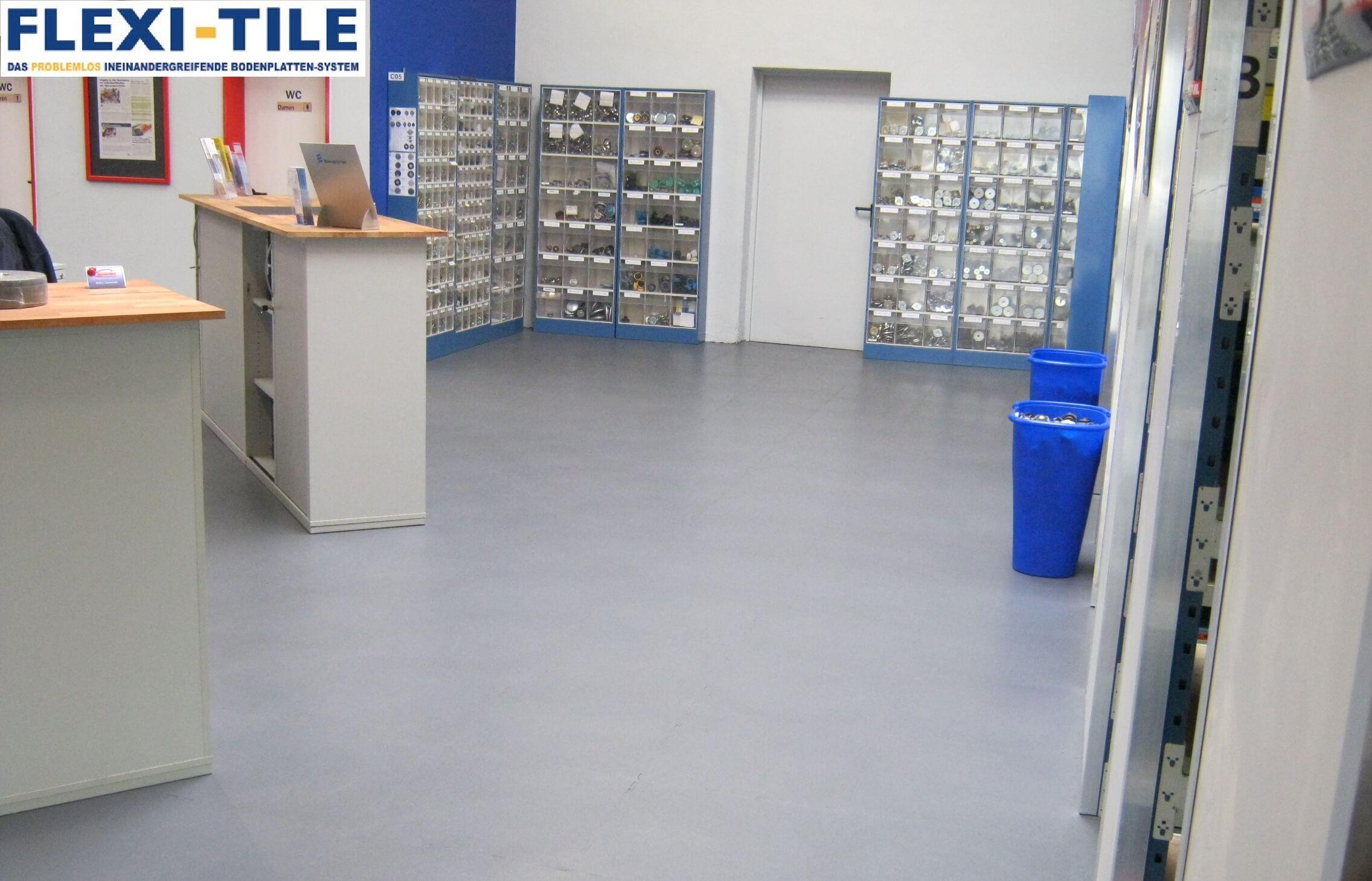 FlexiTile PVC Boden Fuêr Gewerbe Und Industrie PVC Fußbodenbelag - Industrie pvc fliesen