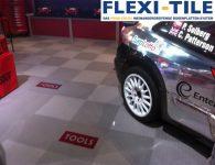 Flexi-Tile - PVC Boden im Ausstellungsbereich