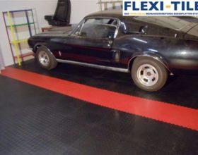 Flexi-Tile PVC Boden im Garagenbereich