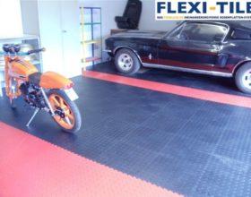 Flexi-Tile PVC Boden im Garagenbereich - Anwendungsbeispiel