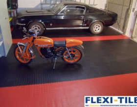 Flexi-Tile PVC Boden im Garagenbereich - Beispielanwendung