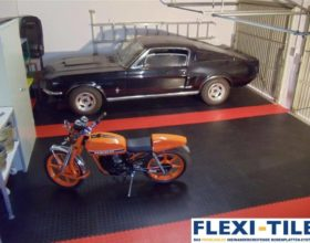 Flexi-Tile PVC Boden im Garagenbereich Beispiel Anwendung