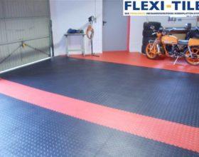 Flexi-Tile PVC Boden im Garagenbereich installiert