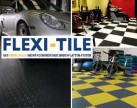 Flexi-Tile PVC Bodenfliesen Anwendungsbeispiele Diamond Riffel-Optik
