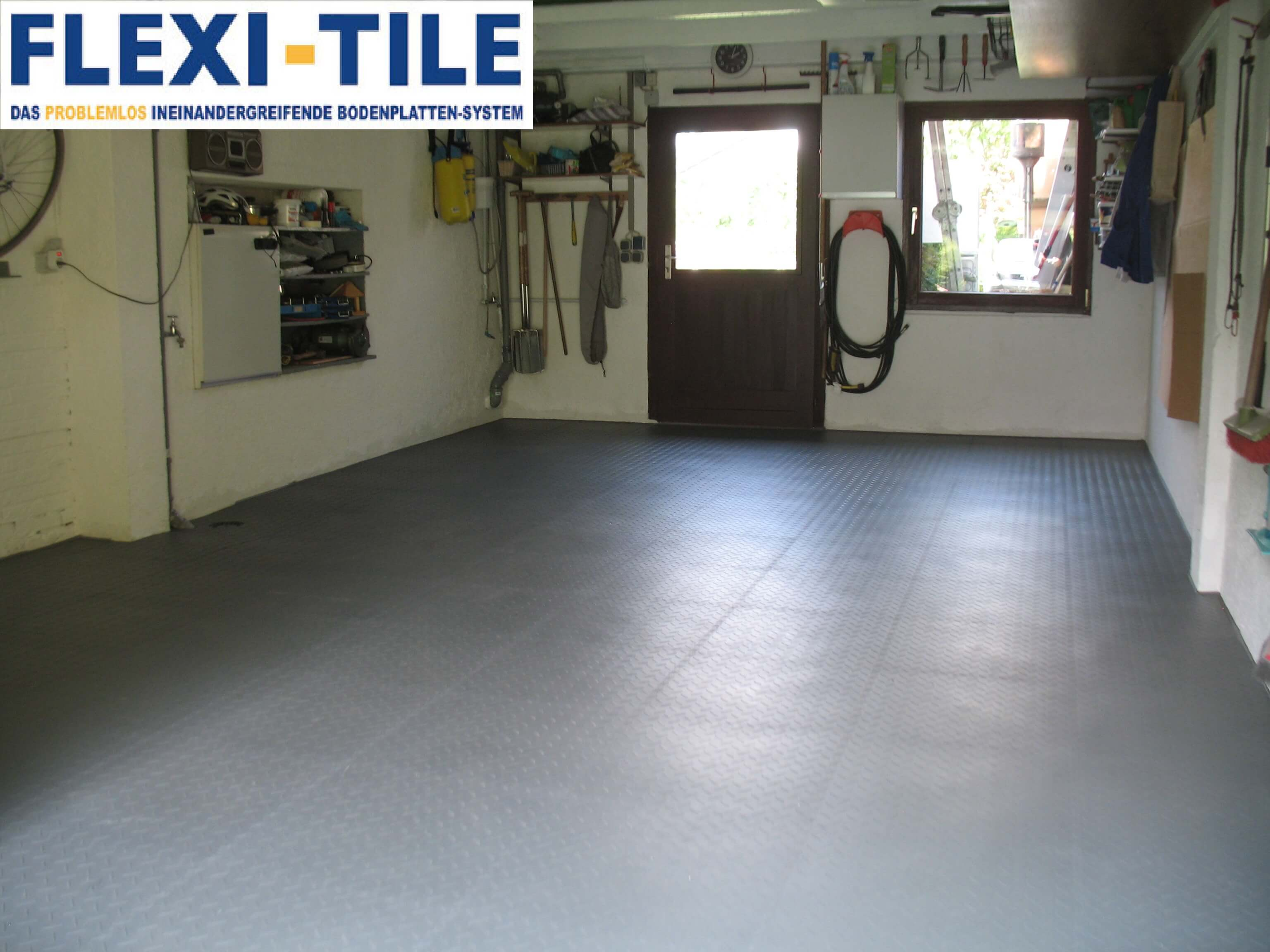 flexi-tile pvc bodenfliesen als garagenboden - anwendungsbeispiel