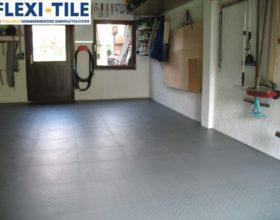 Flexi-Tile PVC Bodenfliesen als Garagenboden - Anwendungsbeispiel Garage