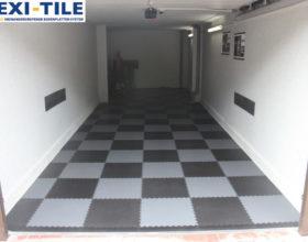 Flexi-Tile PVC Bodenfliesen als Garagenboden Diamond Ausfu¦êhrung