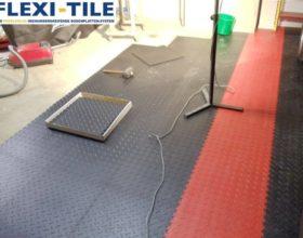 Flexi-Tile PVC Bodenfliesen als Garagenboden verlegt - Anwendungsbeispiel
