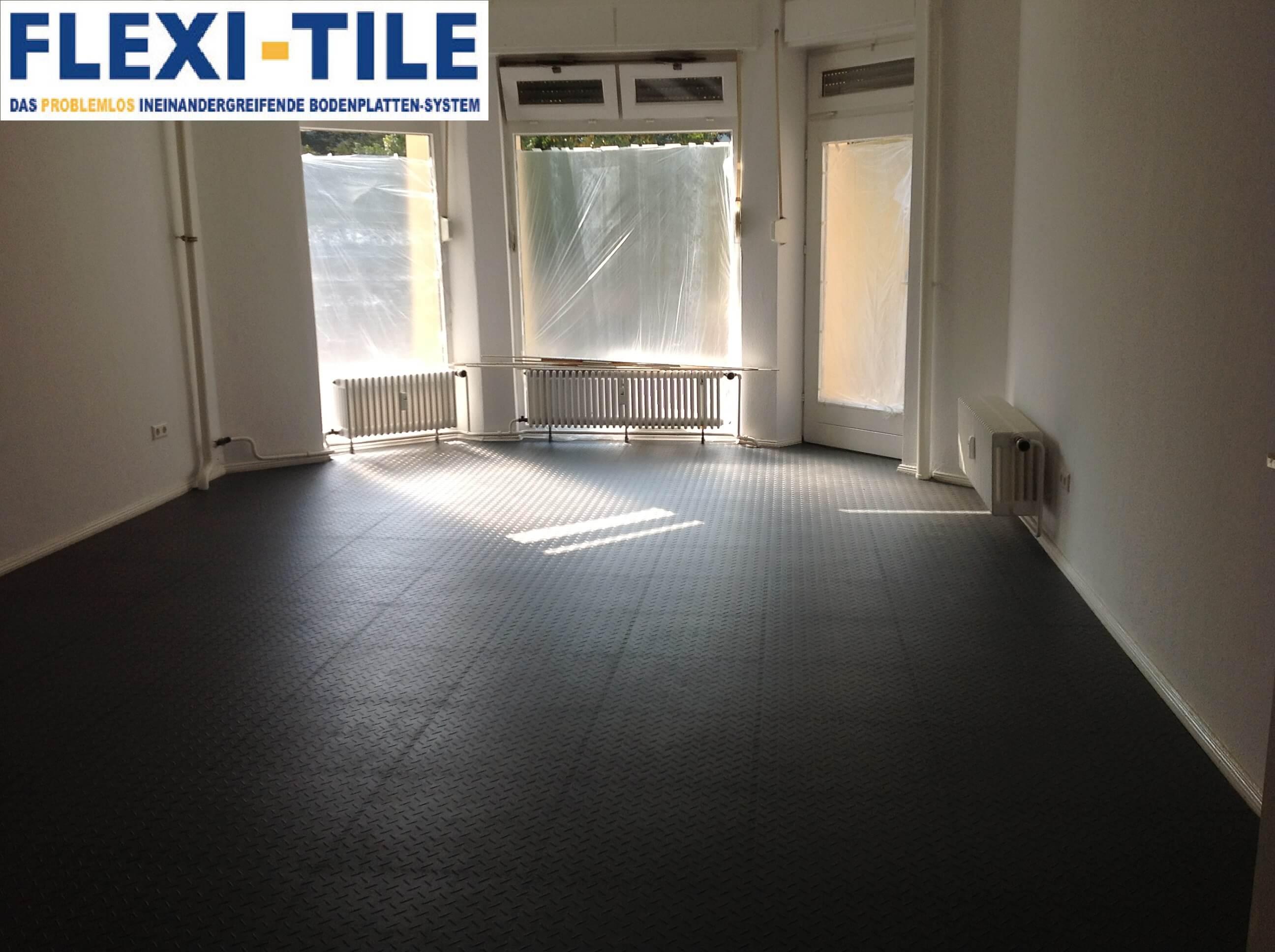 flexi tile pvc bodenfliesen als gewerbeboden. Black Bedroom Furniture Sets. Home Design Ideas