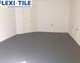 Flexi-Tile PVC Bodenfliesen als Ladenboden - Anwendungsbeispiel Riffel-Optik