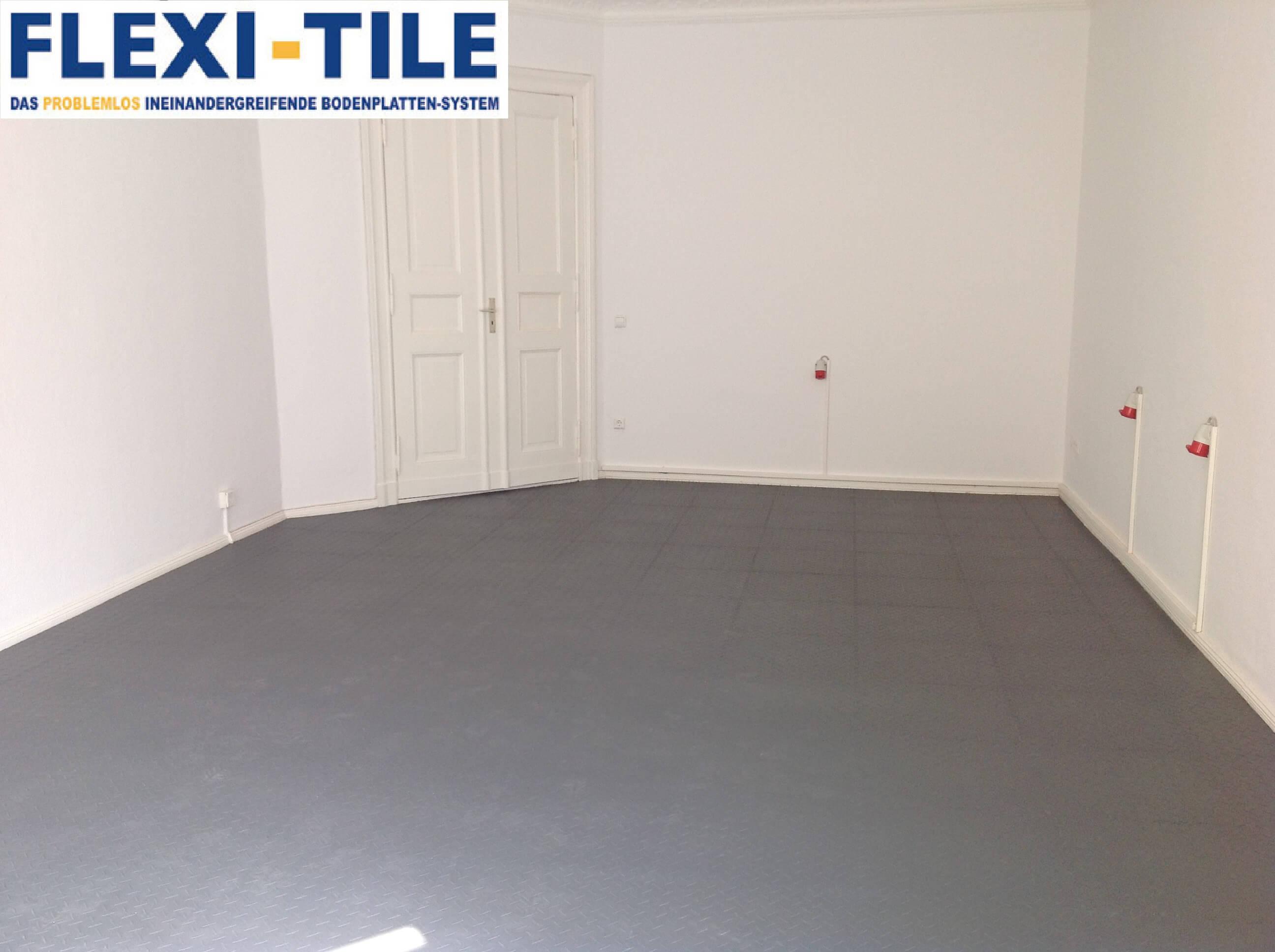 flexi tile pvc bodenfliesen als ladenboden. Black Bedroom Furniture Sets. Home Design Ideas