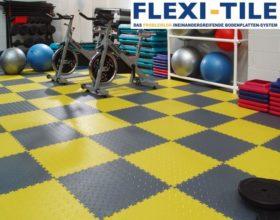 Flexi-Tile PVC Bodenfliesen im Fitnessbereich
